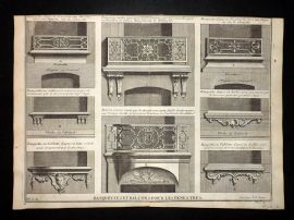 Vignola 1720 Architectural Print. Balcony Decoration 81